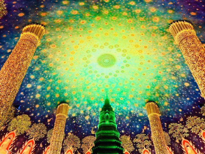 ワット・パクナームの天井画