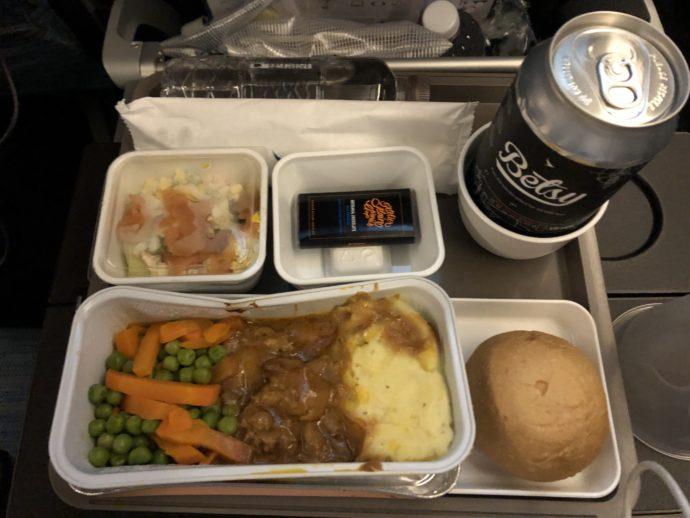 キャセイパシフィックの機内食
