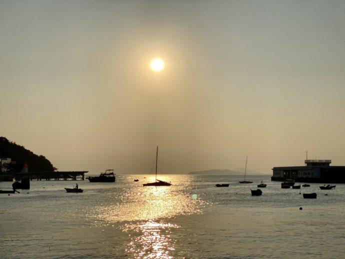 ラマ島の夕暮れ