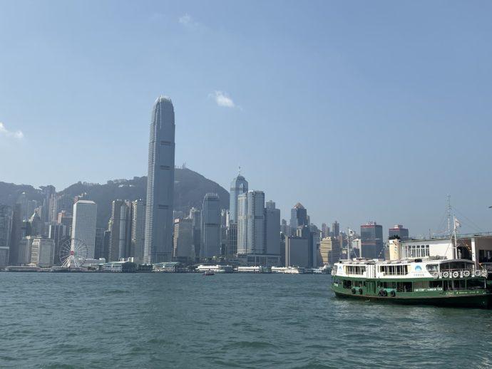 香港島のビル群