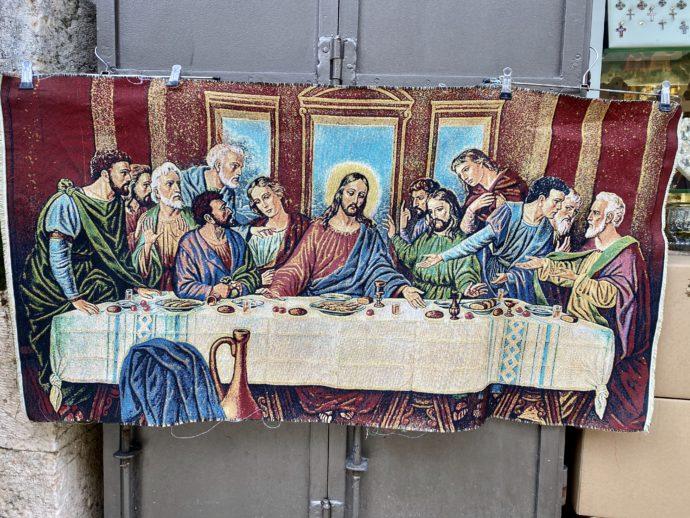 最後の晩餐デザインの絨毯