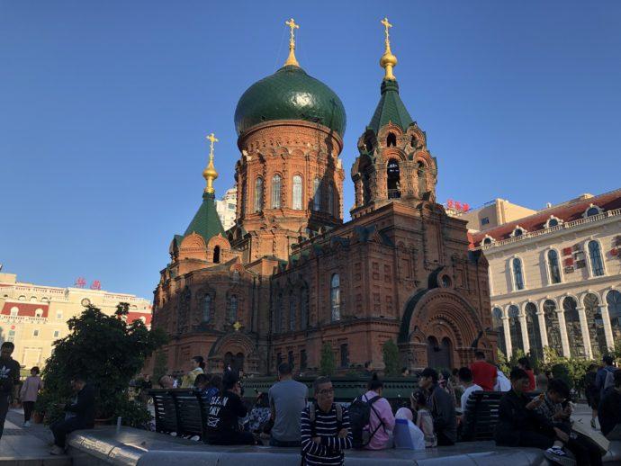 修復中の聖ソフィア聖堂