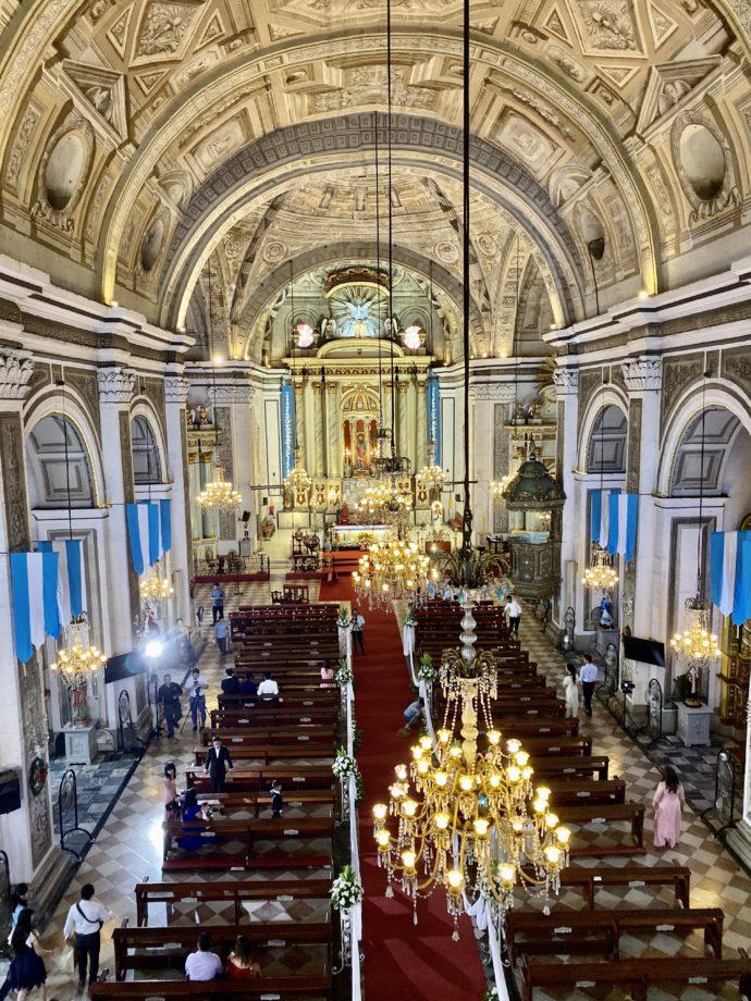 サン・オウガスチン教会の内部
