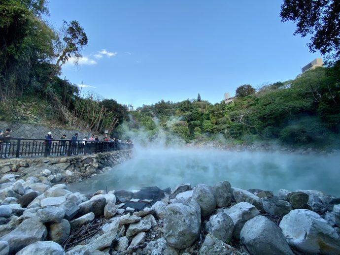 北投温泉の地獄谷