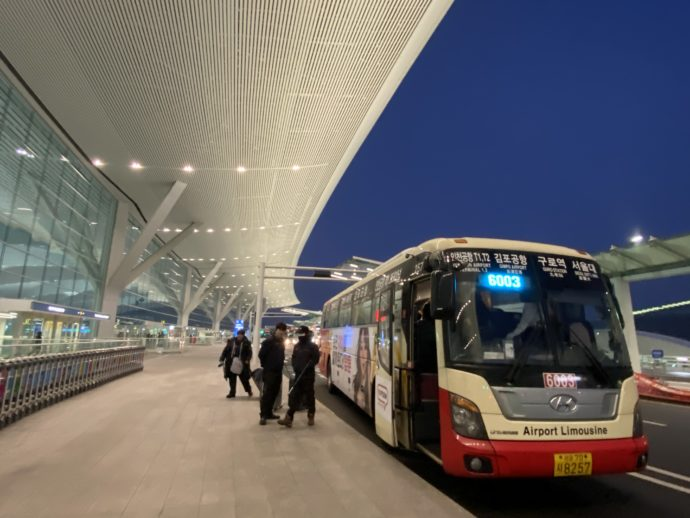 仁川国際空港行きのバス