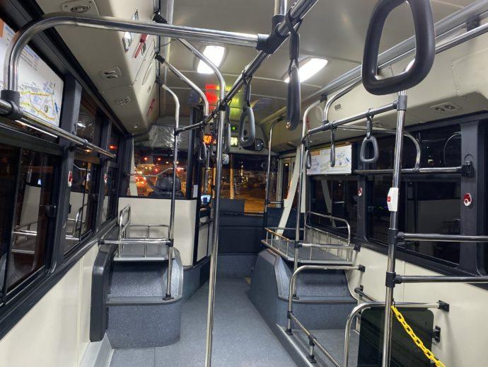 ソウルの無料シャトルバスの車内