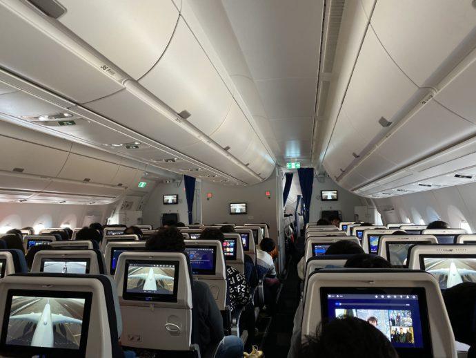 エールフランスの機内
