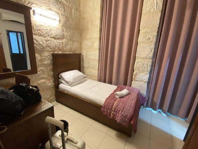 エルサレムのホテルの部屋