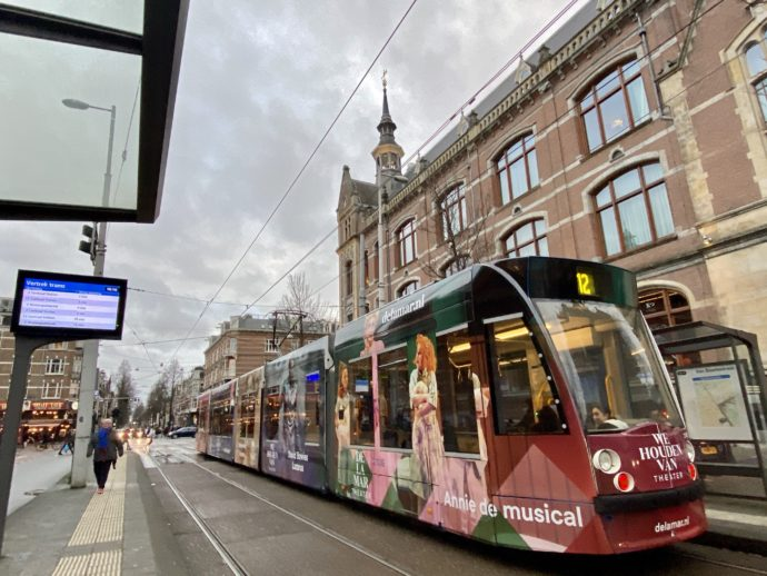 アムステルダムを走るトラム