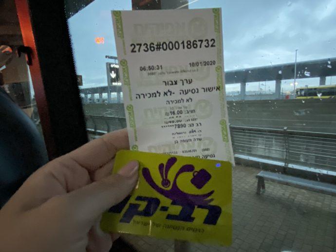 エルサレム行きリムジンバスのチケット