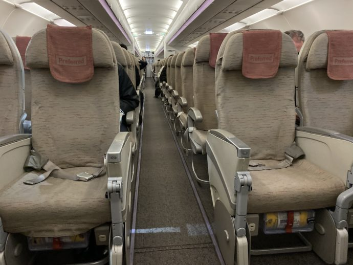 空席の多いアシアナ航空
