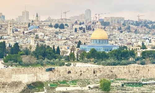 オリーブ山から眺めるイスラエル旧市街
