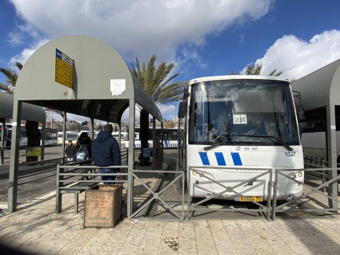 ベツレヘム行きの231番アラブバス