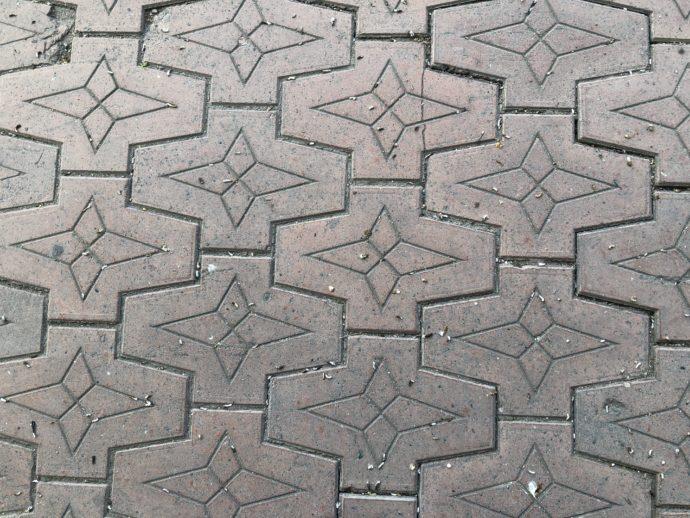 幾何学模様のタイル