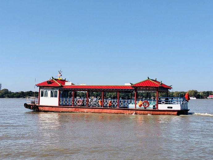 ハルビン松花江の遊覧船