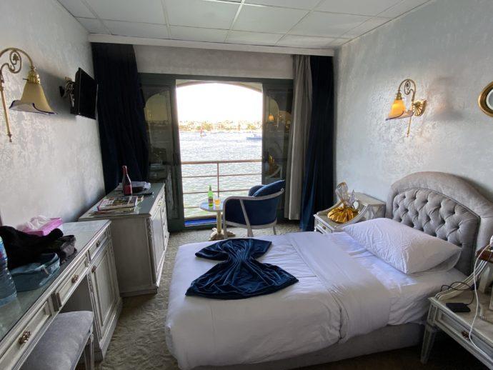 ナイル川クルーズ船の室内
