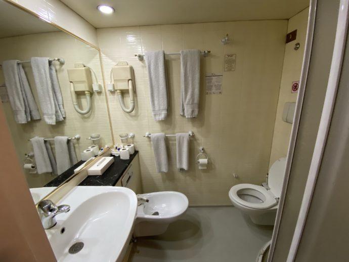 クルーズ船の浴室