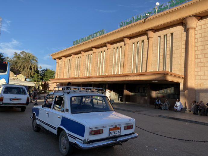 アスワン鉄道駅の外観
