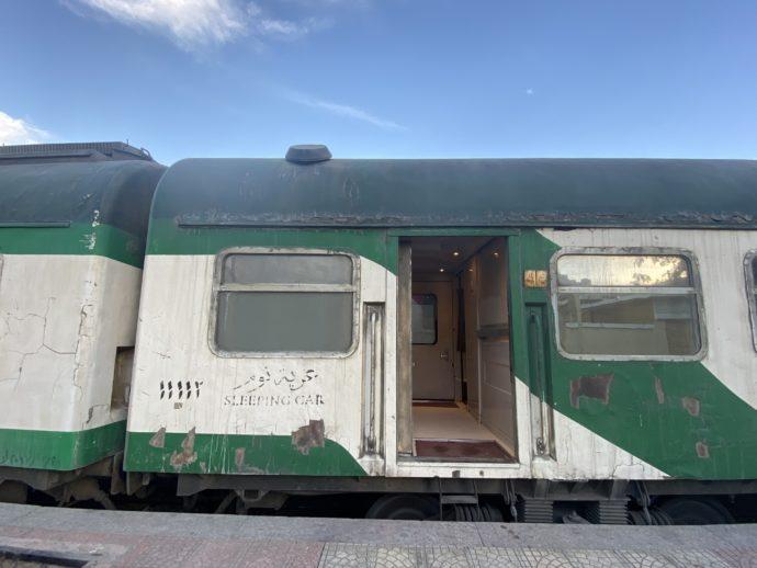 エジプトの夜行列車の車両