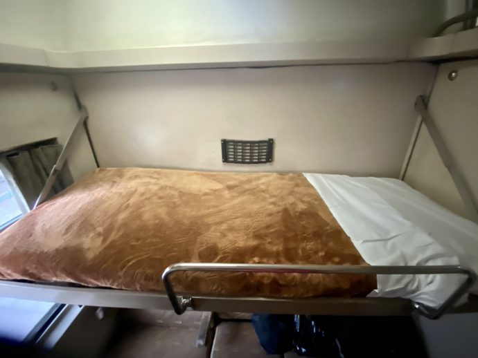 一等車両のベッド