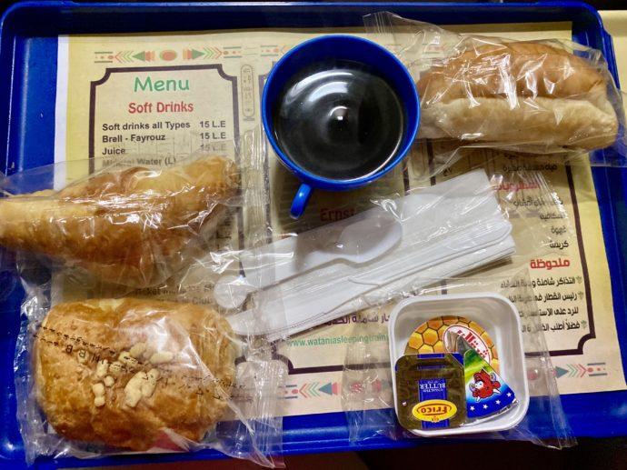 エジプト夜行列車の朝食