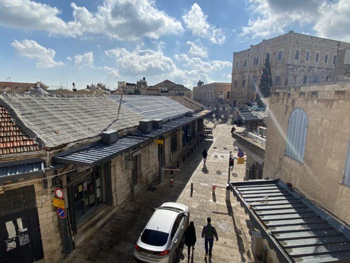 エルサレム旧市街のいたって普通の道