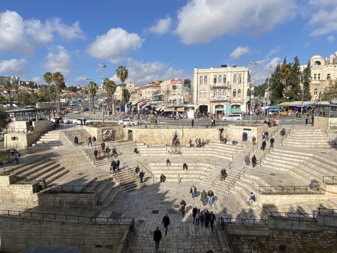 ダマスカス門前の円形広場