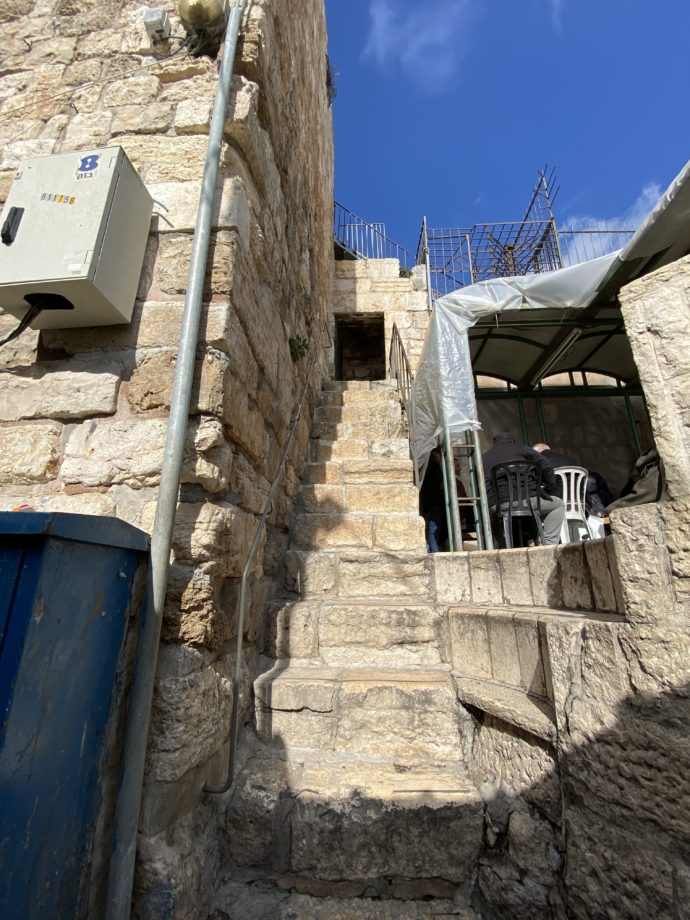 ヘロデ門の出口の階段