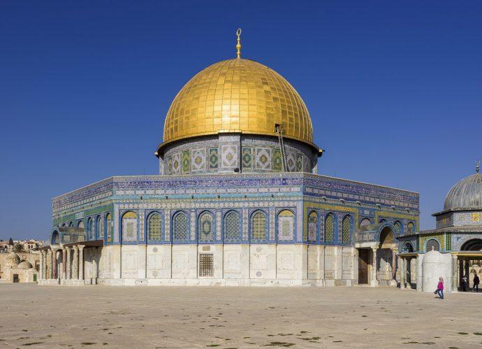 イスラム教の聖地岩のドームの全貌