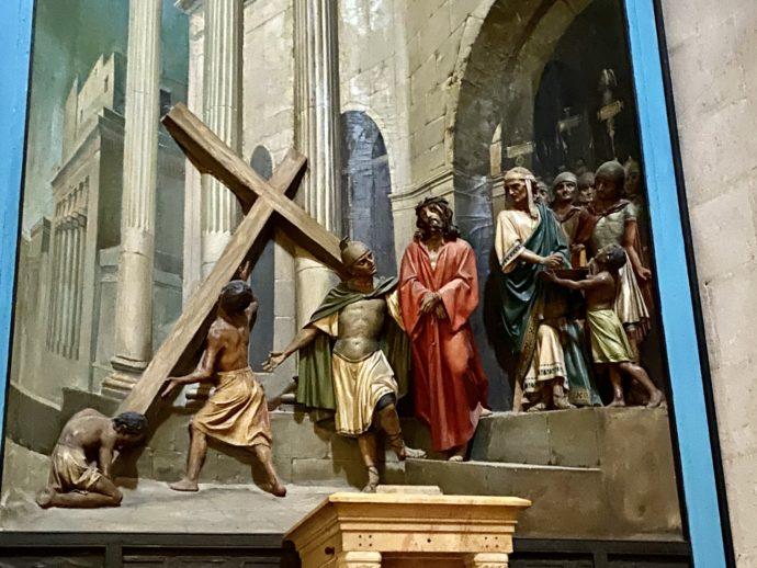 鞭打ちの教会の絵画