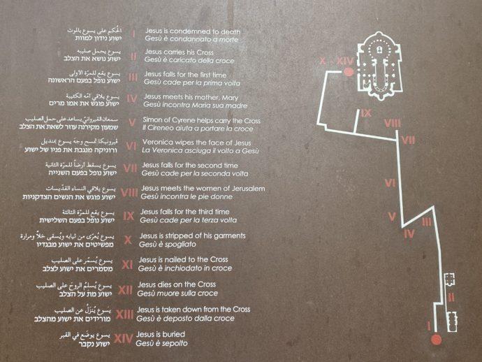 ヴィアドロローサの案内図