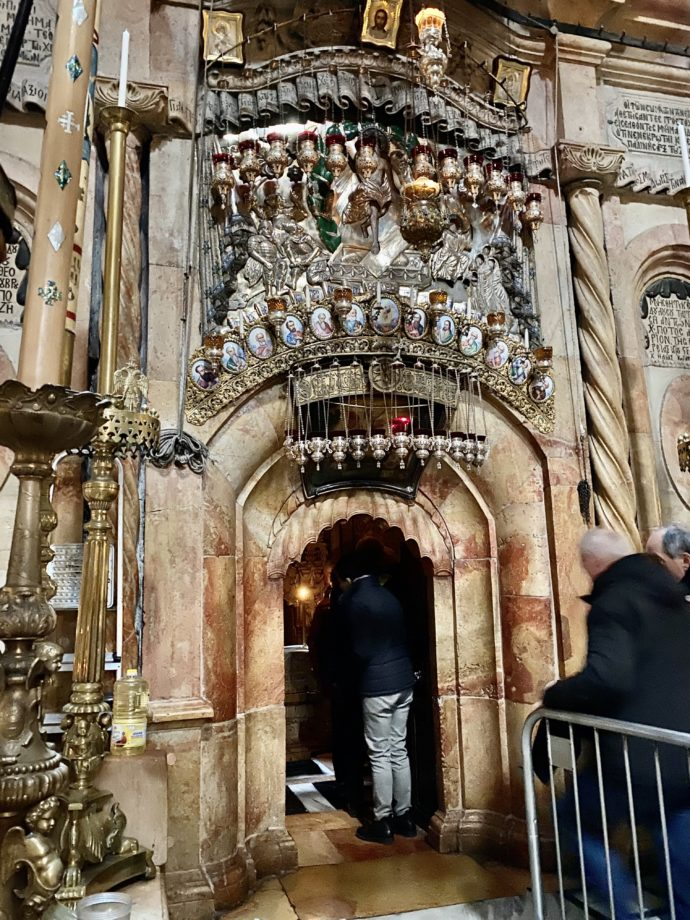 イエスの墓の入り口