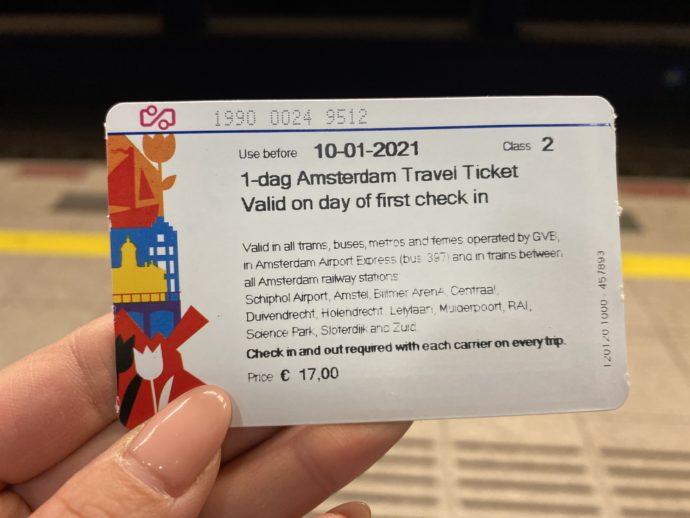1-dayアムステルダムカード