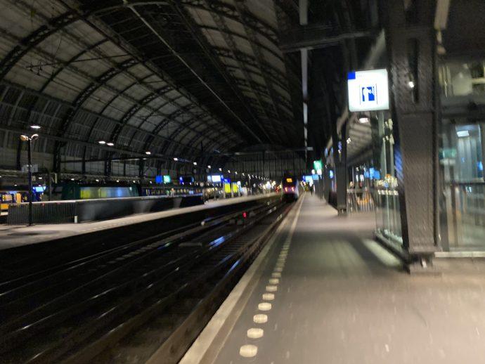 アムステルダム中央駅のホーム