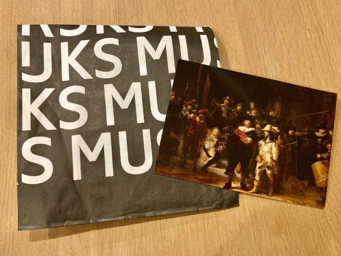 アムステルダム国立美術館で購入したレンブラントのポストカード