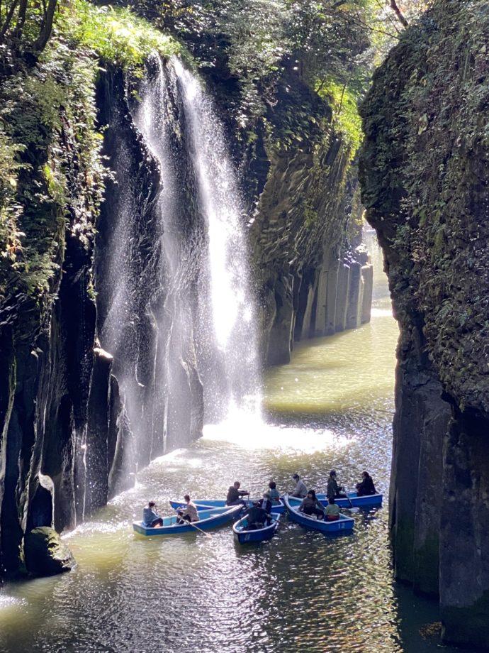 真名井の滝と貸しボート