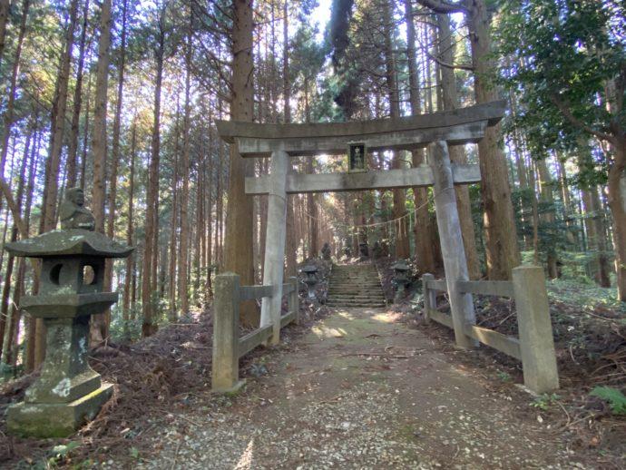 向山神社の鳥居