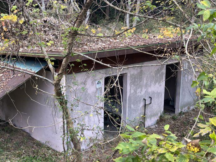 音の谷吊り橋近くの公衆トイレ
