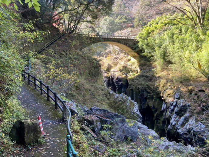 高千穂峡の道