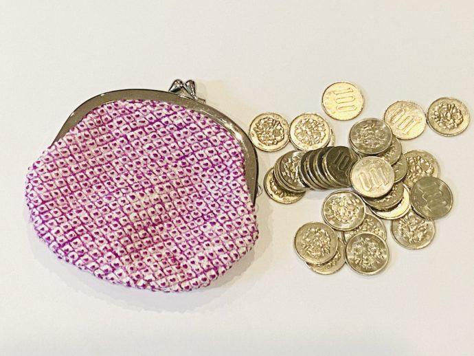 百円玉と専用財布