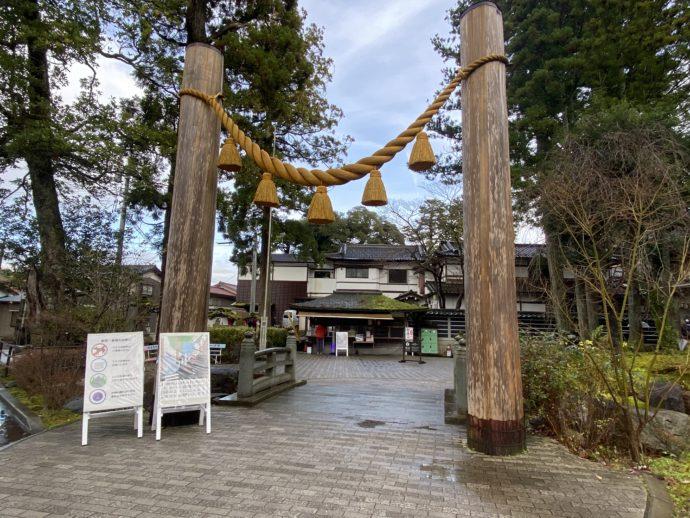 那谷寺の入り口