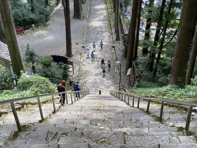 急峻で怖い菩提梯