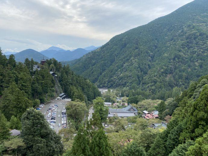 身延山ロープウェイからの景色