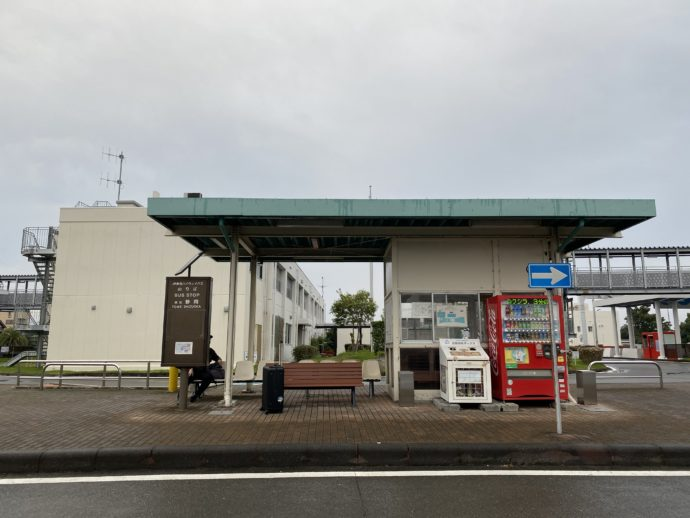 東名静岡の高速バス停