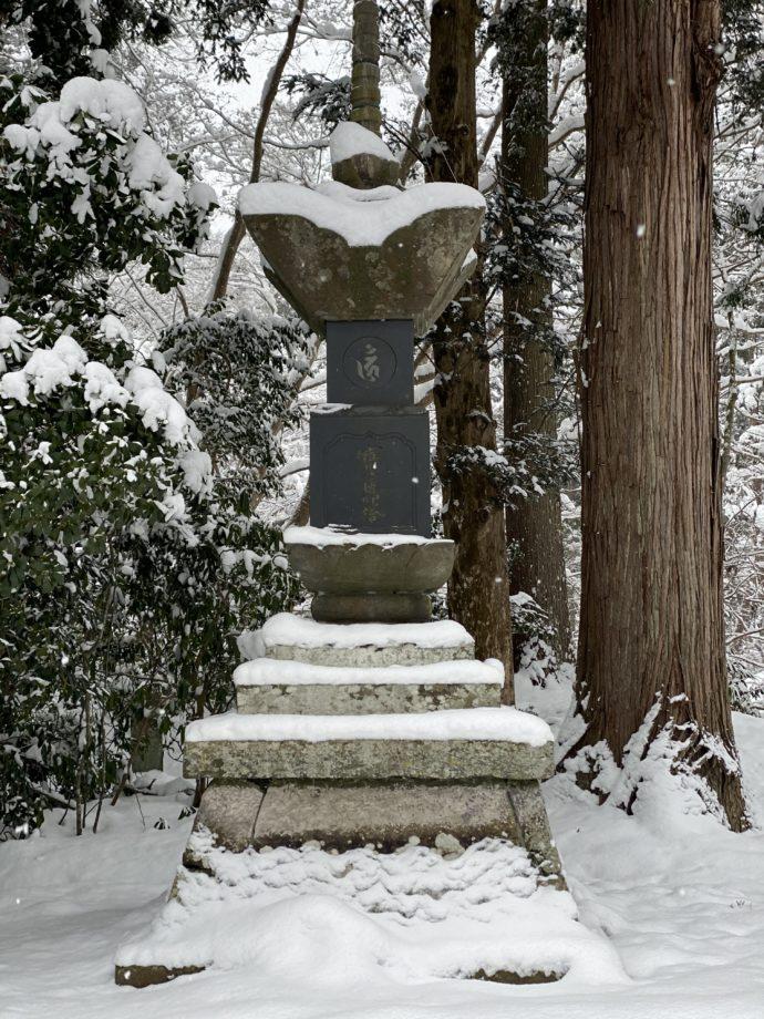 中尊寺の灯籠