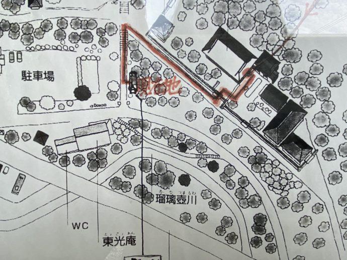 黒石寺の境内案内図