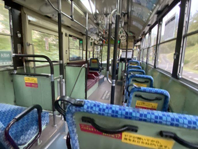 岩手県交通バスの車内