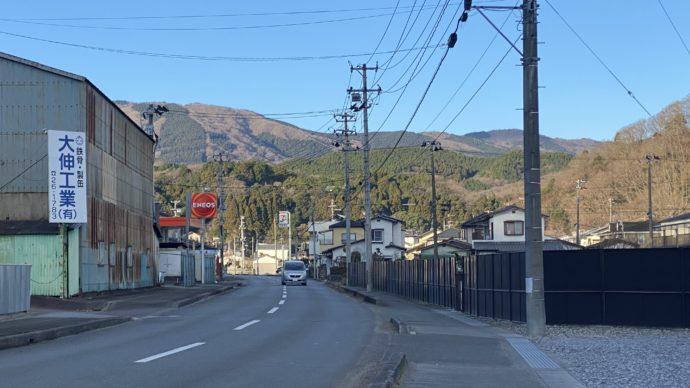 白水阿弥陀堂への道