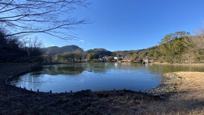 白水阿弥陀堂の浄土式庭園