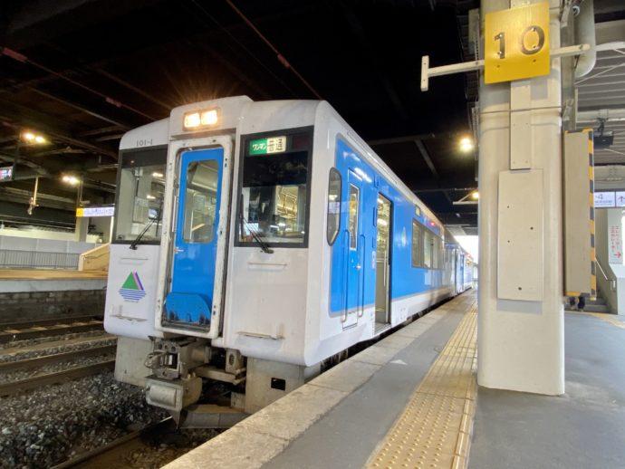 JR左沢線と電車